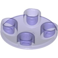 Trans-Purple Plate, Round 2 x 2 with Rounded Bottom (Boat Stud)  6177942