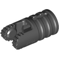 Black Hinge Cylinder 1 x 2 Locking with 2 Fingers and Axle Hole on Ends  4143372