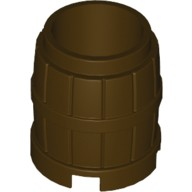 Dark Brown Container, Barrel 2 x 2 x 2  4536677