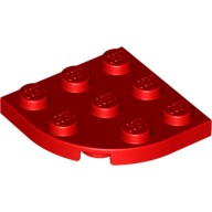 Red Plate, Round Corner 3 x 3  3035721 or 4178428