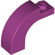 Magenta Brick, Arch 1 x 3 x 2 Curved Top  6030472
