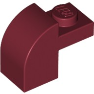 Dark Red Brick, Modified 1 x 2 x 1 1/3 with Curved Top  4162206 or 4249938 or 4539082