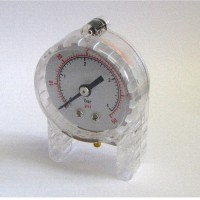 Trans-Clear Pneumatic Pressure Gauge - Manometer (9641)