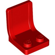 Red Minifig, Utensil Seat (Chair) 2 x 2 with Center Sprue Mark  407921