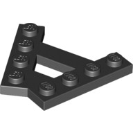 Black Wedge, Plate A-Shape with 2 Rows of 4 Studs  6054852