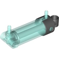 Trans-Light Blue Pneumatic Cylinder with 2 Inlets and Rounded End Medium (48mm)  4529334 or 6157113