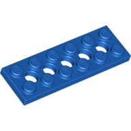Blue Technic, Plate 2 x 6 with 5 Holes 4114027