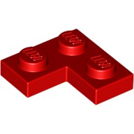 Red Plate 2 x 2 Corner  242021