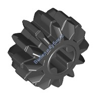 Black Technic, Gear 12 Tooth Double Bevel  4177431