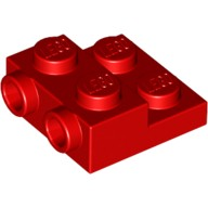 Red Plate, Modified 2 x 2 x 2/3 with 2 Studs on Side  6061711