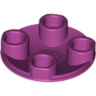 Magenta Plate, Round 2 x 2 with Rounded Bottom (Boat Stud)  6143445