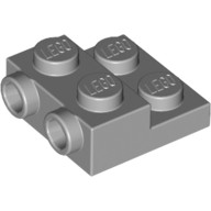 Light Bluish Gray Plate, Modified 2 x 2 x 2/3 with 2 Studs on Side  4654577