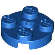 Blue Plate, Round 2 x 2 with Axle Hole  403223