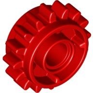 Red Technic, Gear 16 Tooth with Clutch on Both Sides  6100930