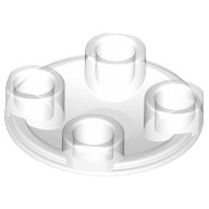 Trans-Clear Plate, Round 2 x 2 with Rounded Bottom (Boat Stud)  4199303 or 4278412