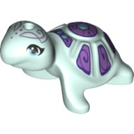 Light Aqua Turtle, Friends with Medium Azure Eyes and Medium Lavendar Shell Pattern  6213359
