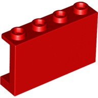 Red Panel 1 x 4 x 2 with Side Supports - Hollow Studs  6049737