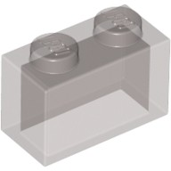 Trans-Black Brick 1 x 2 without Bottom Tube  3065111 or 4226179