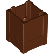 Reddish Brown Container, Box 2 x 2 x 2 - Top Opening  4520638
