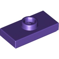 Dark Purple Plate, Modified 1 x 2 with 1 Stud with Groove and Bottom Stud Holder (Jumper)  6092604