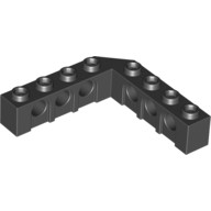 Black Technic, Brick 5 x 5 Right Angle (1 x 4 - 1 x 4)  4156698 or 4529549 or 6170702