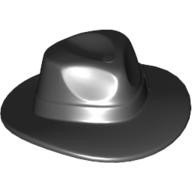 Black Minifig, Headgear Hat, Wide Brim Outback Style (Fedora)  4547251 or 4633178