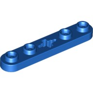 Blue Technic, Plate 1 x 5 with Smooth Ends, 4 Studs and Center Axle Hole  4112874