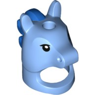 Medium Blue Minifig, Headgear Mask Horse with Hole in Top, Black Eyes and Blue Mane Pattern (Unicorn Boy)  6223892