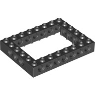 Black Technic, Brick 6 x 8 Open Center  4162897 or 4188143