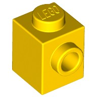 Yellow Brick, Modified 1 x 1 with Stud on 1 Side  4624985