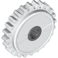 White Technic, Gear 24 Tooth Clutch  4270486 or 4535052 or 4540381 or 6025005 or 6036892 or 6198486