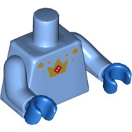 Medium Blue Torso with Gold Stars and Crown with Red Hourglass Pattern / Medium Blue Arms / Blue Hands  6221463