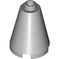Light Bluish Gray Cone 2 x 2 x 2 - Completely Open Stud  4211471 or 6022155 or 6057616