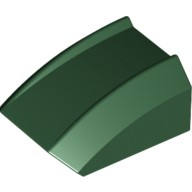 Dark Green Slope, Curved 2 x 2 Lip, No Studs  6113046