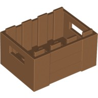 Medium Dark Flesh Container, Crate with Handholds  6035734