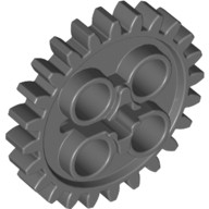 Dark Bluish Gray Technic, Gear 24 Tooth (New Style with Single Axle Hole)  4514558 or 6133119
