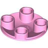 Bright Pink Plate, Round 2 x 2 with Rounded Bottom (Boat Stud)  4657974 or 6139480