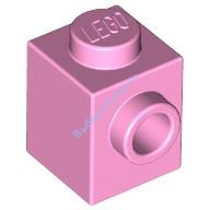 Bright Pink Brick, Modified 1 x 1 with Stud on 1 Side  4621554