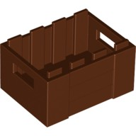 Reddish Brown Container, Crate with Handholds  4211185