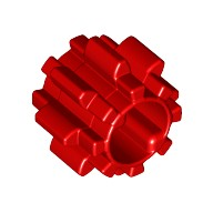Red Technic, Gear 8 Tooth without Friction  6036545