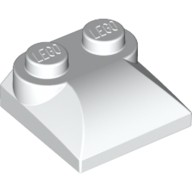 White Brick, Modified 2 x 2 x 2/3 Two Studs, Curved Slope End  4494474