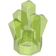 Trans-Bright Green Rock 1 x 1 Crystal 5 Point  6134621