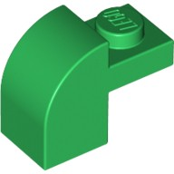 Green Brick, Modified 1 x 2 x 1 1/3 with Curved Top  4129994 or 4280151 or 4568991 or 6100223