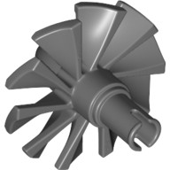 Dark Bluish Gray Engine, Large, Center, 10 Blades  4295253 or 6100596
