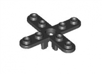 Black Propeller 4 Blade 5 Diameter with Rounded Ends  247926