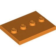 Orange Tile, Modified 3 x 4 with 4 Studs in Center  6224537