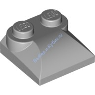 Light Bluish Gray Brick, Modified 2 x 2 x 2/3 Two Studs, Curved Slope End  4494475