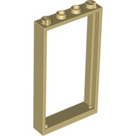 Tan Door Frame 1 x 4 x 6 with Two Holes on Top and Bottom  4578110