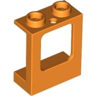 Orange Window 1 x 2 x 2 Plane, Single Hole Top and Bottom for Glass  6074035