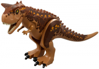 Medium Dark Flesh Dino Carnotaurus with Medium Dark Flesh and Reddish Brown Back - Complete Assembly